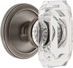 Grandeur 828056 Circulaire Rosette Dummy with Baguette Crystal Knob In Antique Pewter