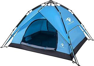 YACONE テント ワンタッチテント 4人用 2WAY テント 二重層 設営簡単 uvカット加工 ワンタッチ キャンプ アウトドア 防風 防災用 耐水圧3000mm