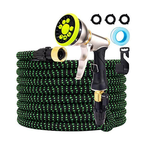 YouFen Manguera de jardín de 30 m, 3/4 pulgadas, 9 funciones, manguera extensible a prueba de fugas, flexible de alto…