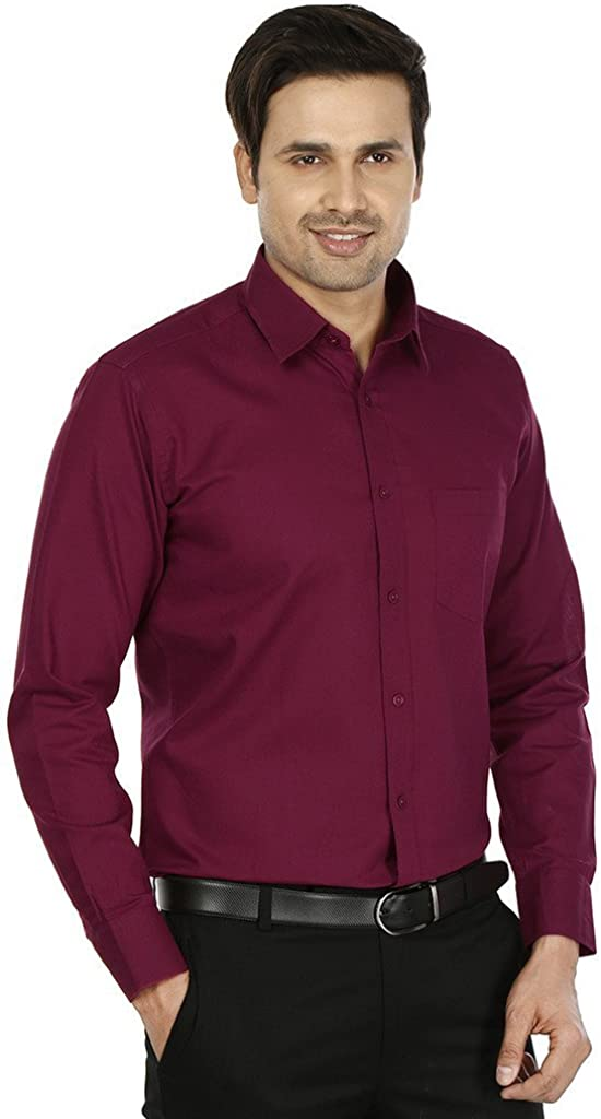 Royal Men's Formal Shirt Red