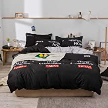 4-Piece Bedding Set Sheet set Comforter Set Luxurious Cotton and Soft Microfiber with 1 Duvet/Quilt Cover And 1 Flat sheet...