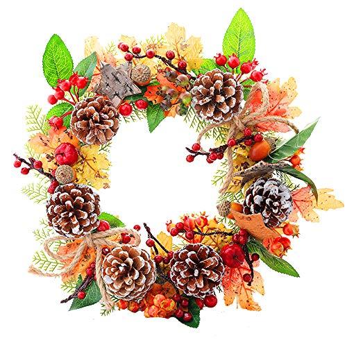 mcy0202 Kranen, Halloween Thanksgiving Kerstmis Herfst Krans Decoratie, Voordeur Krans Kerstmis Bloemenkrans Thanksgiving Decor, raamdecoratie.