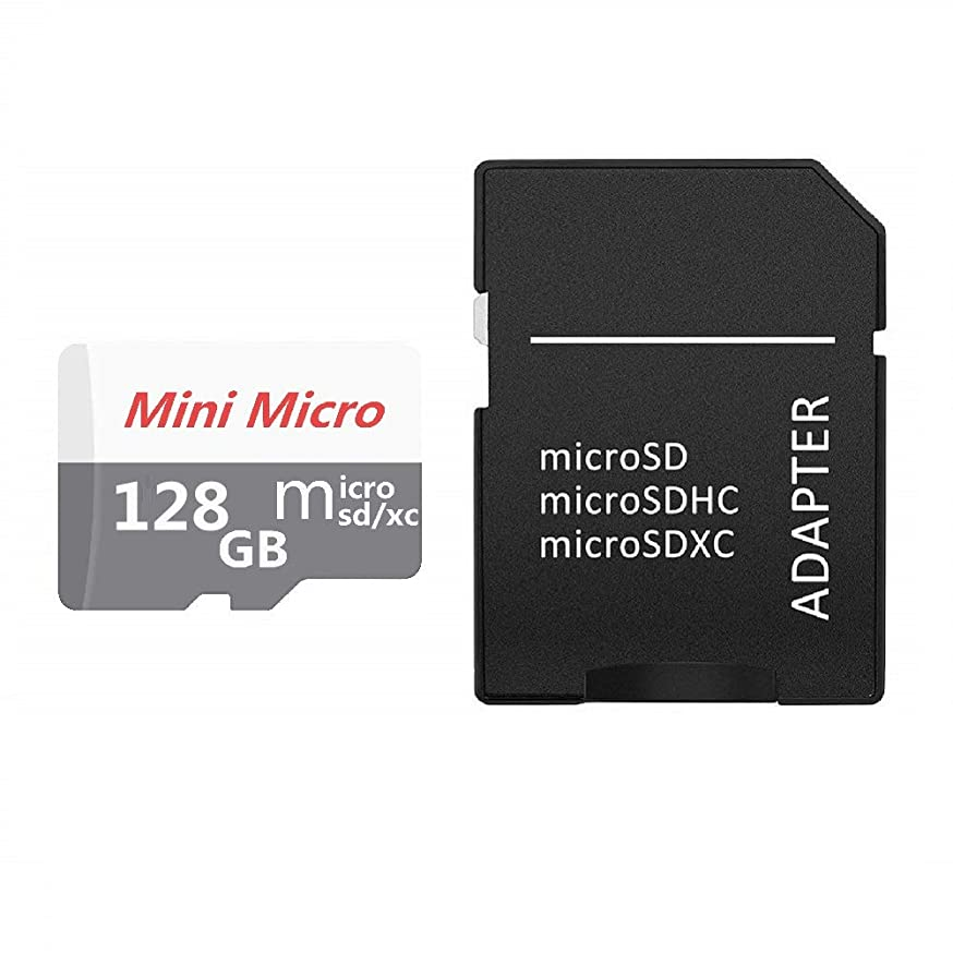 GW 128GB SD Micro Memory Card with Free Adapter, High Speed 128GB SD Micro Card Class 10 Memory Card for Memory Expansion, Movie Music Storage, Portable Carrying, Data Copy and Traffic Recorder Mem