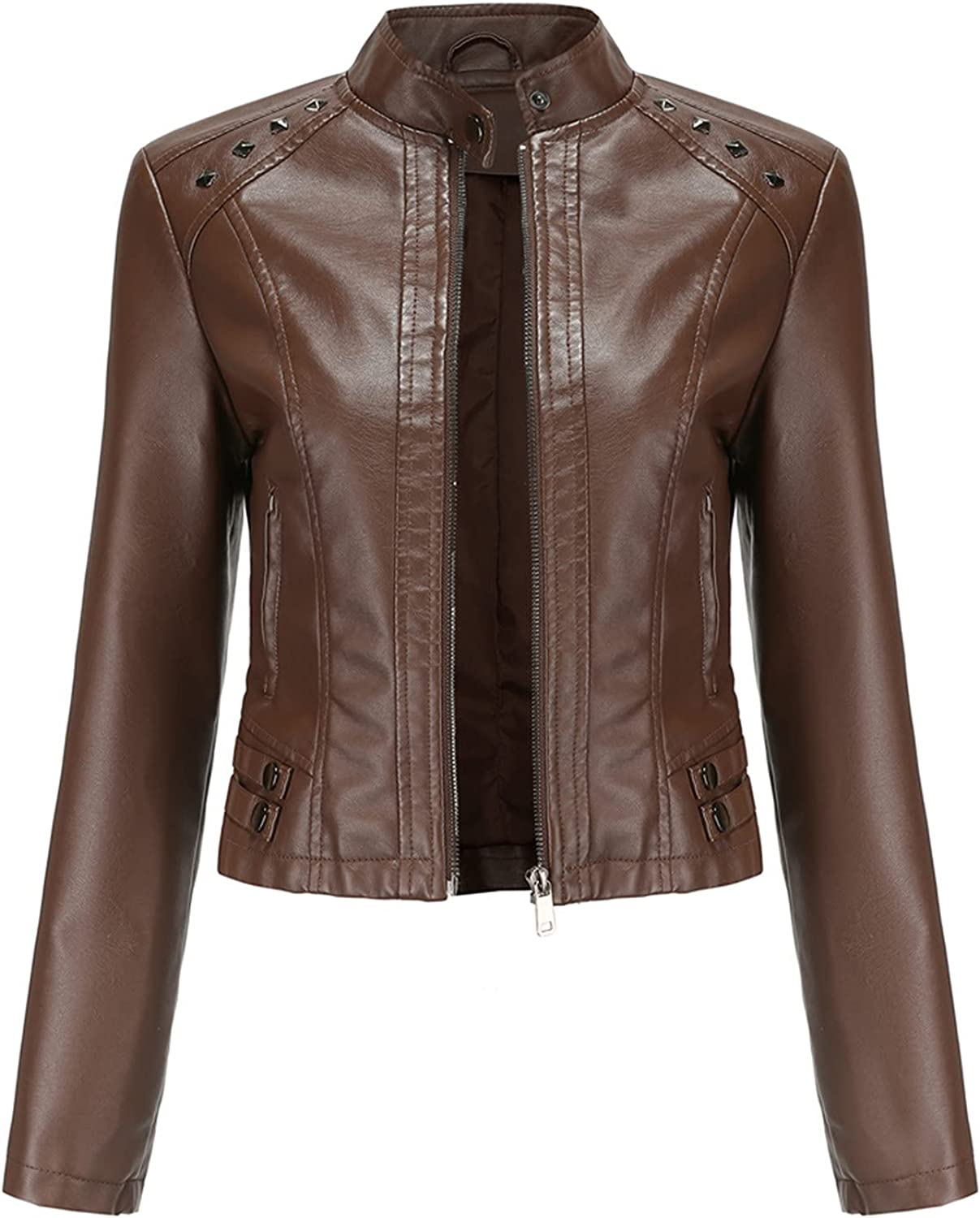 Women's Long Sleeve Zipper Fitted Cardiga Max 74% OFF Fall Coat Special sale item Crop Jackets