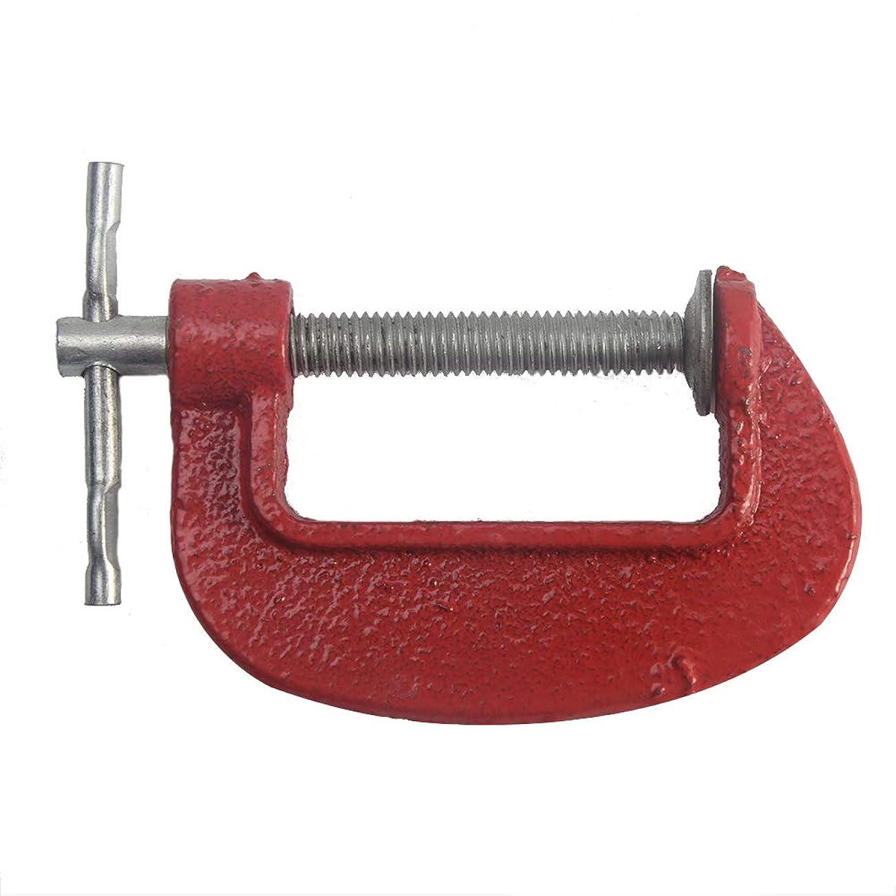 どうやってキャリッジ区別3サイズスチールGクランプヘビーデューティメタルカーペンター便利屋バイスグリップ(2赤)