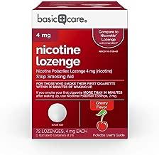 Basic Care Nicotine Lozenge, 4 mg, Cherry, 72 Count