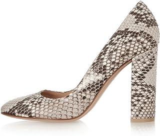 892795e1b56b5a EDEFS - Chaussure Femmes Escarpin - Talon Hauts Bloc - Bout Rond fermé -  Soirée Mariage