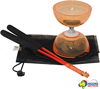 Higgins Brothers Revolution Triple Bearing Diabolo Set with Fiberglass Handsticks and Mesh Carry Bag