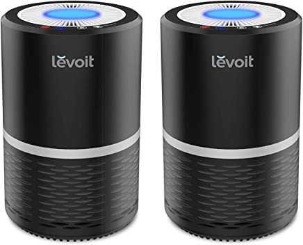 LEVOIT LV-H132 Air Purifier for Home with True HEPA Filter, Odor Allergies Eliminator for Smokers, Dust, Mold, Pets, Air Cleaner with Night Light, US-120V, 2 Pack, Black, 2-Year Warranty
