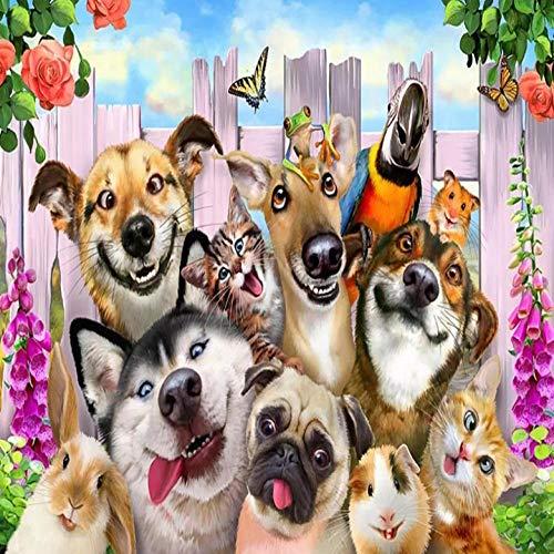 Murales Papel Pintado,Perro y gato animal 4D Wallpaper Art Póster De Impresión HD De Salón Decoracion Gran Mural De Seda,200Cm(W)×140Cm(H)