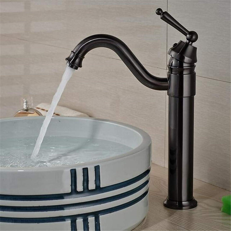 Basin Faucet Bathroom Sink Tap Luxury Long Neck Bathroom Sink Vessel Faucet One Hole Single Handle Basin Mixer Tap Oil Rubbed Bronze