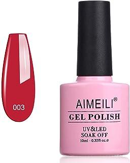 AIMEILI Soak Off UV LED Gel Nail Polish - Red Beam (003) 10ml