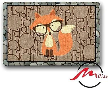 ZMvise Cartoon Fox Art Non-Slip Bath Shower Area Rug Floor Door Mats Front Entry Carpet Indoor Doormat Outdoor Felt