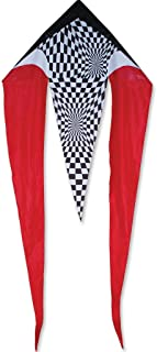 Premier Kites 45 in. Flo-Tail Delta - Red Opt-Art