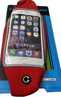 غطاء يتلائم مع حزام الخصر للرياضيين اثناء الركض لهاتف ايفون 6 - احمر