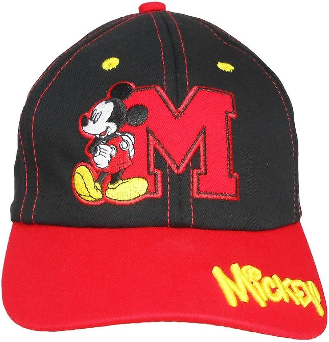 Disney Kids Mickey Mouse Baseball Cap Black/Red