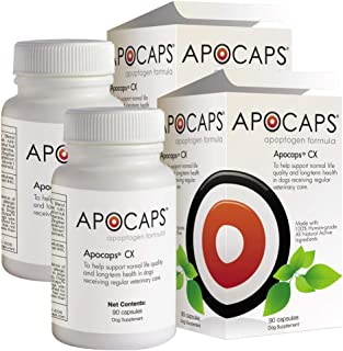 ApoCaps Cx Apoptogen for Dogs (Pack of 2 Boxes)- 90 Count Each