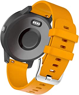 Siliconen Band Quick Release Vervanging Horlogeband Compatibel met Garmin Vivoactive 3 HR Galaxy Active 2 Polar Ignite For...