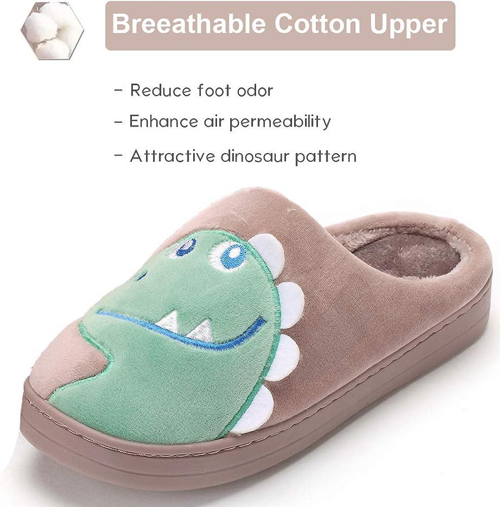 Pantofole da Casa Dinosaur Interne Esterno Uomo Donna Inverno Peluche Ciabatte Unisex Adulto Slippers Calde Leggere