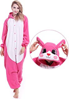 Bunny Animal Onesie Cosplay Pajamas Rabbit Cosplay Costume Pajamas Animal  Sleepwear for Women Men 59eb8fb29