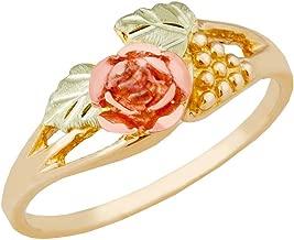 Pretty! Black Hills Gold diamond-cut Rose Bud Women's Ring size 5