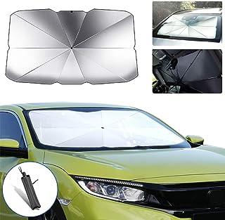 saitake Car Windshield Parasol Sun Shade for Hyundai i30 Sun UV Protection Lightweight and Portable Umbrella Type 125cm65cm
