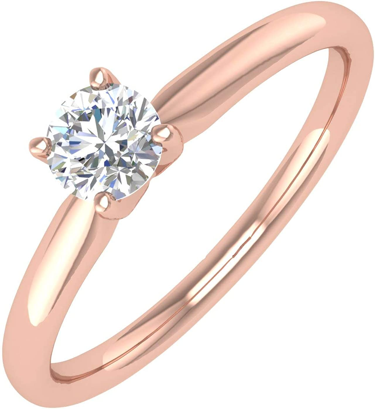 1 5 Carat 4-Prong Finally resale start Set Diamond Engagement New color in Solitaire Ring Band