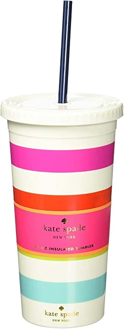 Candy Stripe Tumbler with Straw