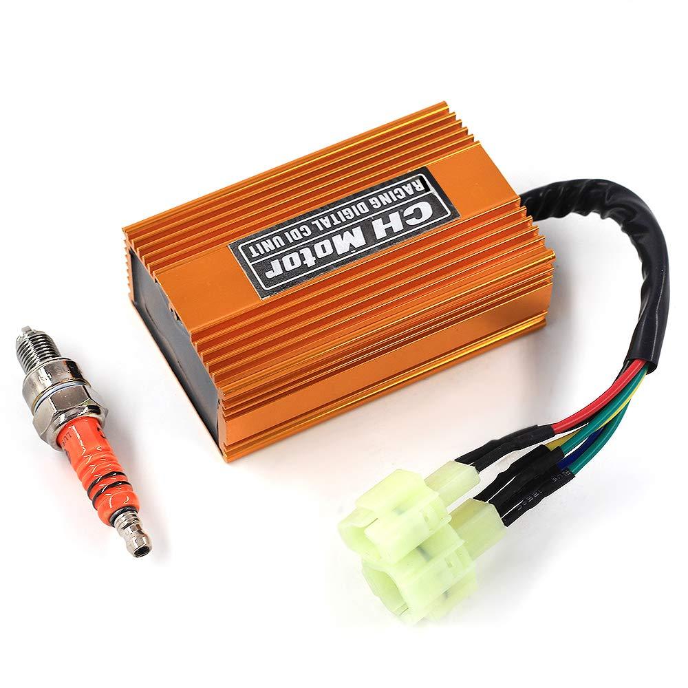 gy6 racing cdi wiring diagram ac amazon com trkimal upgrade racing tuning dc cdi box 6pin high  racing tuning dc cdi box 6pin high