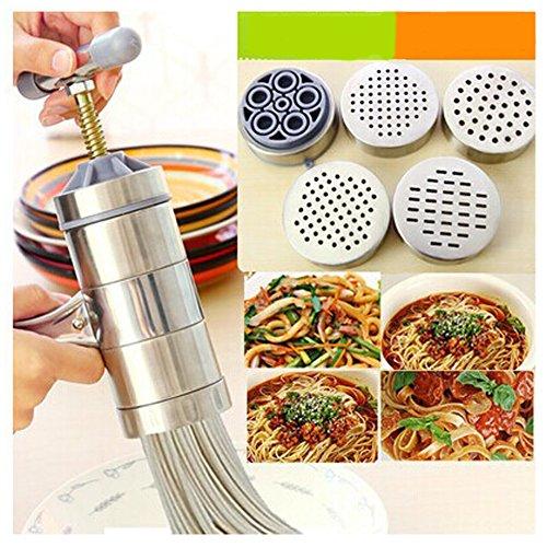 Manual Noodle Maker Machine Pasta Noodle Press Maker Stainless Steel Hand Crank Spaghetti Fettuccine...