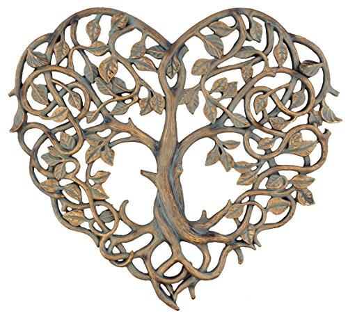 Old River Outdoors Tree of Life/Heart Wall Plaque 12' Decorative Art Sculpture - I Love You Decor