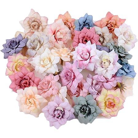 Mini Fausse Marguerite Fleurs Têtes Marguerites Artificielles Petales Artificielle Gerbera Marguerite Fleurs pour l'Artisanat Couronne De Mariée Bouquets De Mariage Fête Maison Déco 50 Pièces