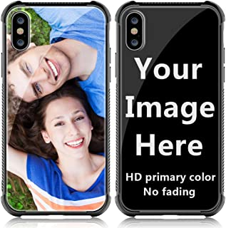 Shumei Custom Case iPhone X Glass Cover 5.8 inch Anti-Scratch Soft TPU Personalized Photo Make Your Own Picture Phone Cases