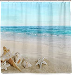Best tropical beach shower curtain Reviews