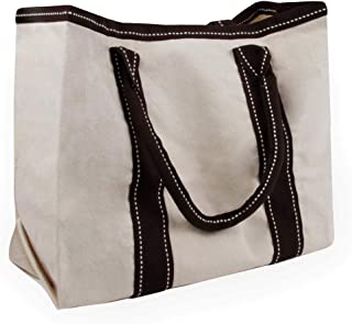 Cottonbagjoe Cottonbagjoe - tolle Lunchbag | stylisch aus robustem Segeltuch | 34 x 28 x 14 cm | Kurze Henkel | Beige | Baumwolltasche | Handtasche | Stofftasche