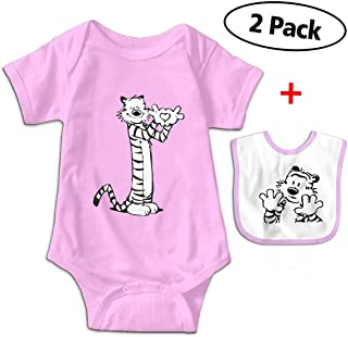 JAWANNA Calvin And Hobbes Unisex Climbing Suit Onesies Bodysuits Infant Bibs