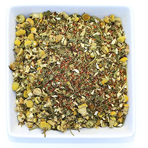 Tealyra - Lovely Night - Chamomile Rooibos Mint - Calming & Relaxing - Herbal Loose Leaf Tea - Antioxidants Rich - All Natural Ingredients - Caffeine-Free - 220g (8-ounce)
