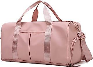 PHABULS Waterproof Duffel Weekender Bag Pink For Women and Men Swim Sports Travel Gym Bag,19.68inch