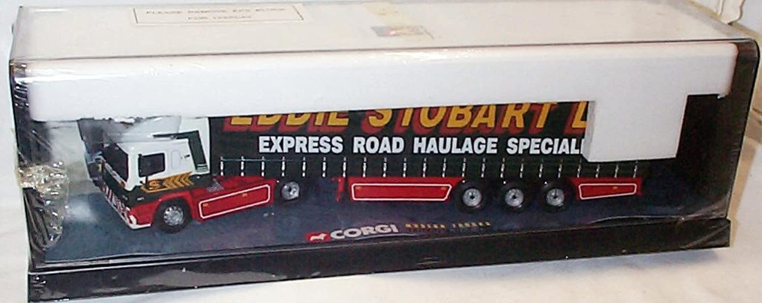 Corgi moden trucks a new era of road transport erf eddie stobart curtainside lorry 1.50 scale diecast model