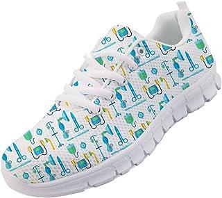 chaqlin Donna Uomo Scarpe da Corsa Leggero Morbido Sport Palestra Sneaker per Infermiere Dottore Simpatico Orso Scarpe da ...