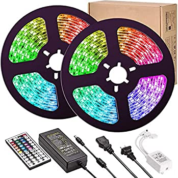 UMICKOO 32.8ft Color Changing LED Strip Lights with Remote
