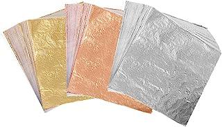 300 Sheets Imitation Golden Silver Rose Color Leaf,Foil Paper for Arts, Gilding Crafting, Decoration,Frames, Furniture 5.5...