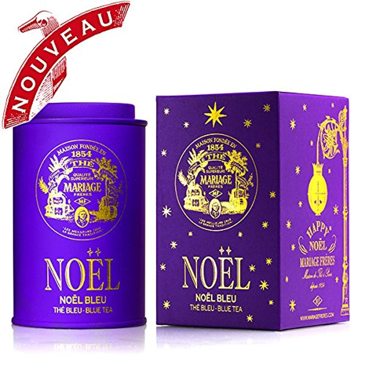 Mariage Frères - NO?L BLEU - HAPPY NO?L (new) - Limited edition - 2.47oz / 70gr canister / tin