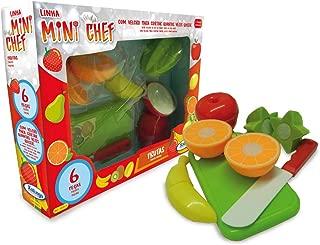 Mini Chef Frutas 6 Peças, Xalingo, Multicolorido, Pequeno