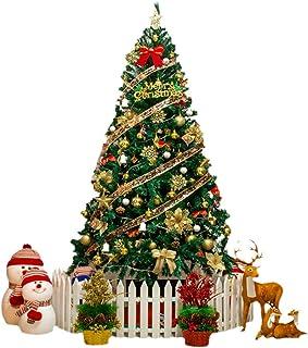 شجرة عيد الميلاد الاصطناعية 5/6/8/10 قدم محاكاة شجرة عيد الميلاد لتزيين العطلات الداخلية والخارجية ديكورات الكريسماس المنزلية