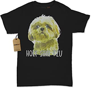 Expression Tees Holy Shih Tzu Funny Dog Lover Womens T-Shirt