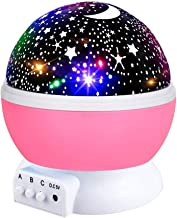 Starry Night Light for Girls, Rotating Star Light Nights Projector Party Favor Decoration Star Lamp for Kids Toys for 3-12 Year Old Girls Christmas Gifts Pink