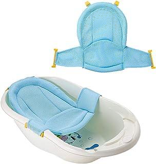 VOARGE Wkładka do wanny dla niemowląt, siedzisko dla noworodków, siateczka pod prysznic, regulowana, wygodna wanna, dla no...