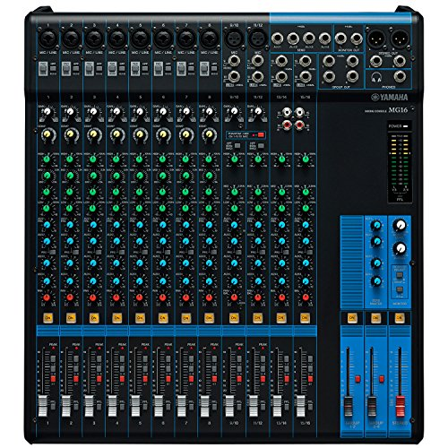 Yamaha MG16 16-channel Analog Mixer with 1 Year Free Extended Warranty