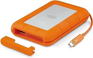 LaCie Rugged Thunderbolt USB 3.0 2TB 外置硬盘便携式硬盘 – 防震防尘防水驱动器,适用于Mac和PC电脑桌Workstation PC笔记本电脑, 1 Mo Adobe CC (STEV2000400)